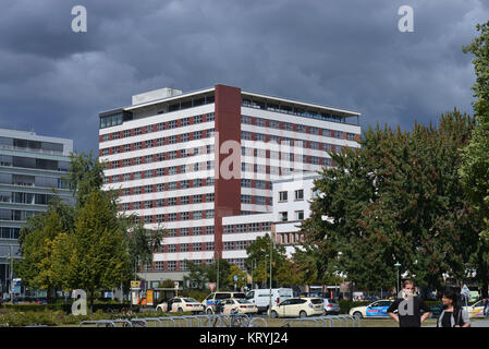 European house, Stresemannstrasse, cross mountain, Berlin, Germany, Europahaus, Kreuzberg, Deutschland - Stock Photo