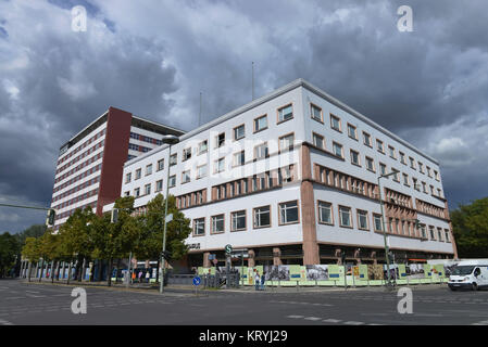 European house, Germany house, Stresemannstrasse, cross mountain, Berlin, Germany, Europahaus, Deutschlandhaus, - Stock Photo