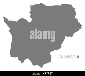 Cuanza Sul Angola Map grey - Stock Photo
