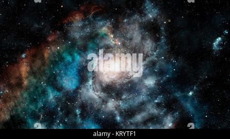 The explosion supernova. Bright star. Elements of this image furnished by NASA. - Stock Photo