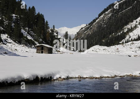 krimmler achental in winter - Stock Photo