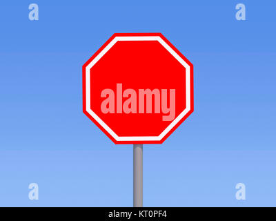 High resolution road sign for art work. 3D rendering - Stock Photo