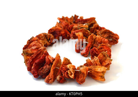 Pictures of dried Stuffed pepper,  in the newest sun - Stock Photo