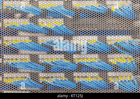 Lan cable in Cambridge Server Rack - Stock Photo