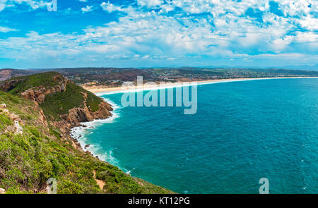 Tremendous Robbberg nature reserve coastline at Plettenberg bay South Africa - Stock Photo