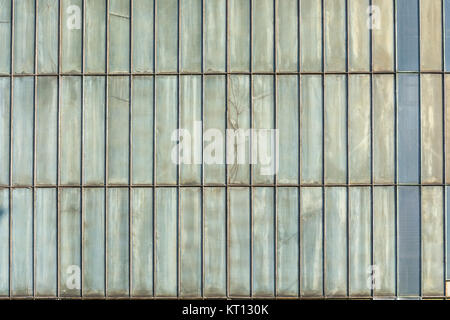 silver colored metal wall - Stock Photo
