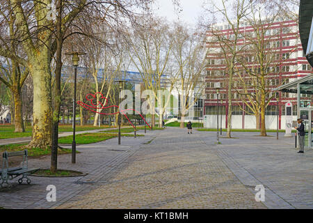 View of the Parc de Bercy, a public garden located in the Bercy neighborhood on the right bank in Paris, France. - Stock Photo