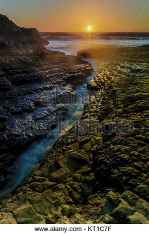 Davenport Crack Sunset - Stock Photo