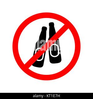 No alcohol drinks allowed sign. - Stock Photo