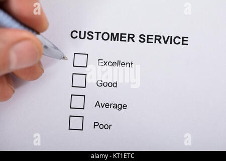 Customer Service Satisfaction Survey Form - Stock Photo