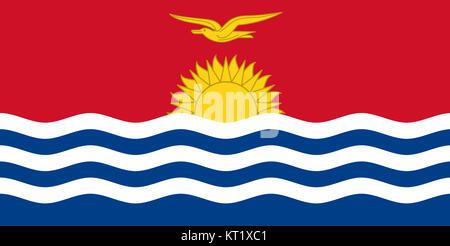 National flag of Kiribati - Stock Photo
