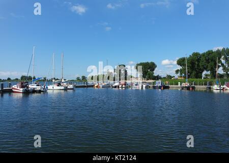 marina lubczyna,lübzin on lake damm - Stock Photo