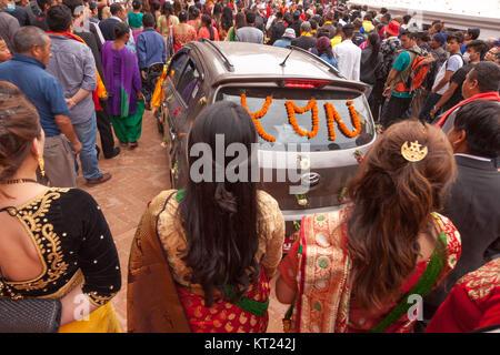 Car decoration in wedding parade dattatraya square bhaktapur nepal wedding in patannepalasia stock photo junglespirit Image collections