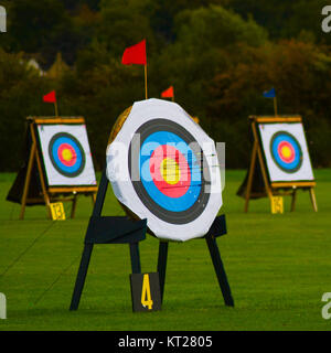 archery target. Arrows in the target. Targets 1 and 2 - Stock Photo