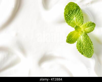 greek yogurt or sour cream texture - Stock Photo