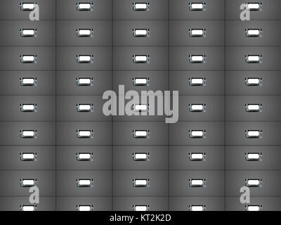 A close up conceptual shot of office filing cabinets - Stock Photo