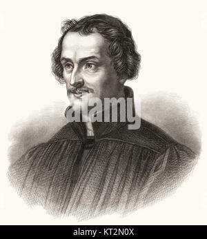 Philipp Melanchthon or Philipp Schwartzerdt, 1497 - 1560, a German philosopher, humanist, theologian and reformer - Stock Photo