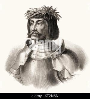 Ulrich von Hutten, 1488 - 1523, a German humanist - Stock Photo