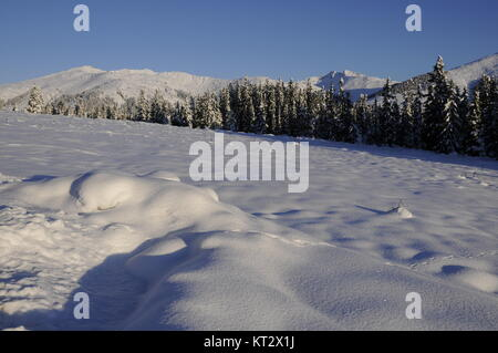 winter in hochkrimml - Stock Photo