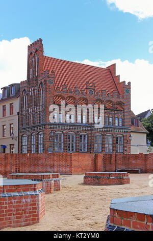 the archdeacon in wismar - Stock Photo