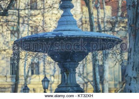 Fountain in Zrinjevac - Stock Photo