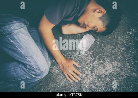 drug addict man - Stock Photo