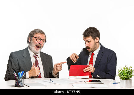 Concept - corruption. Businessman in a suit taking a bribe - Stock Photo