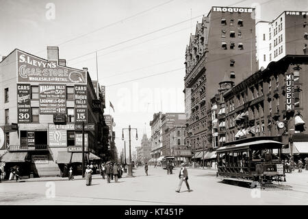 Main Street - Buffalo, New York - Stock Photo