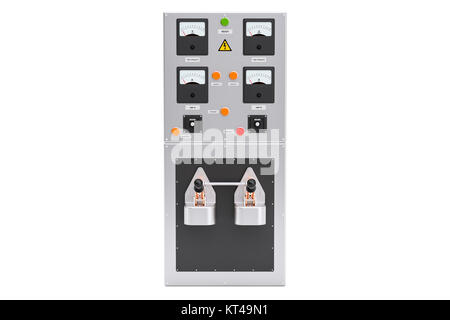 Industrial electrical power panel box, 3D rendering - Stock Photo