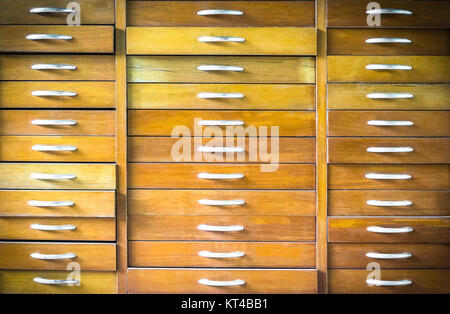 Old vintage wooden chest of drawers - Stock Photo