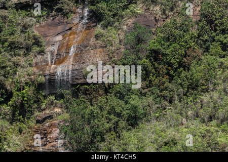 Beautiful waterfall near Adam's Peak. Sri Lanka. - Stock Photo