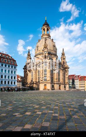 Frauenkirche in Dresden, Saxony, Germany - Stock Photo