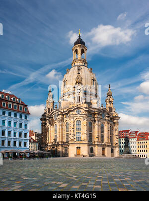 Frauenkirche in Dresden, Saxony, Germany - Stock Photo