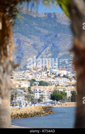 city views of altea - costa blanca - spain - Stock Photo