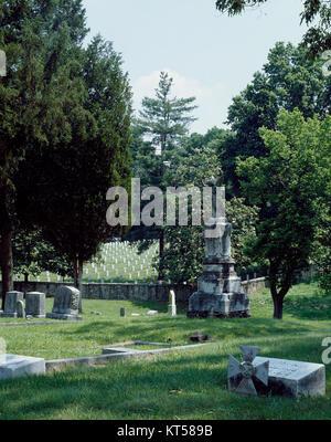 Oakwood Confederate Cemetery in Raleigh, North Carolina - Stock Photo