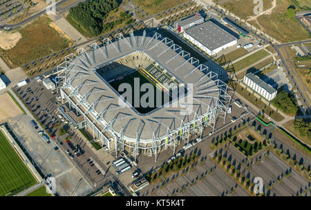 Borussia-Park, the stadium of Borussia Mönchengladbach, Bundesliga football, Moenchengladbach, Lower Rhine, North - Stock Photo