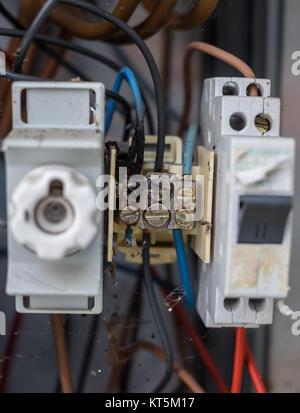 elektrische Anlage Klemmverbindung - Stock Photo