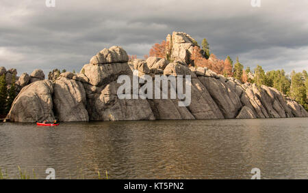 Sylvan Lake formation - Stock Photo