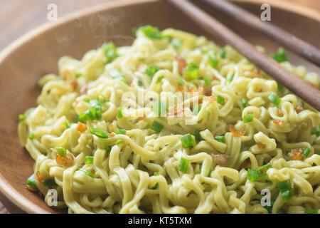 Close up delicious dried ramen noodles - Stock Photo