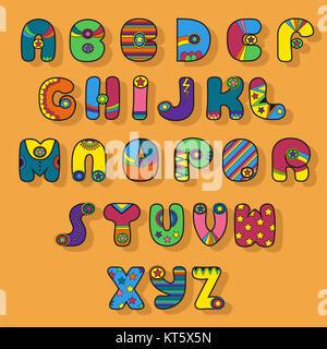 Colorful Alphabet. Superhero style. - Stock Photo