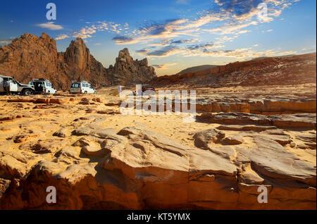 Trip to Egyptian desert - Stock Photo