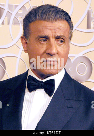 BEVERLY HILLS, CA  - JANUARY 08: Actor Sylvester Stallone attends HBO's Official Golden Globe Awards After Party - Stock Photo