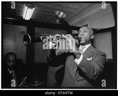 (Portrait of Fess Williams and Freddie Moore, William P. Gottlieb's office party, Jamaica, Queens, New York, N.Y., - Stock Photo