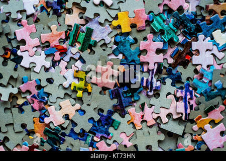 Puzzle set colored - Stock Photo
