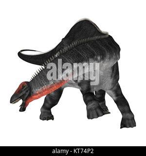 3D Rendering Dinosaur Apatosaurus on White - Stock Photo