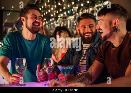 Friends In A Nightclub - Stock Photo