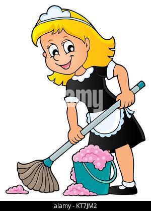 Cleaning lady theme image 2 - Stock Photo