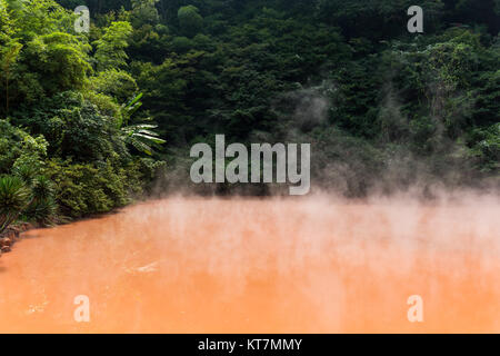 Blood hell in Beppu - Stock Photo