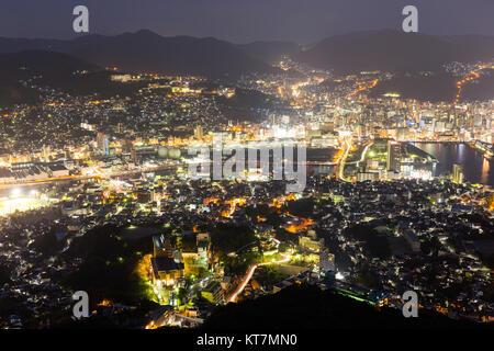 Nagasaki in city of japan - Stock Photo