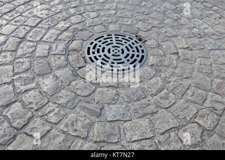 Manhole Circle - Stock Photo